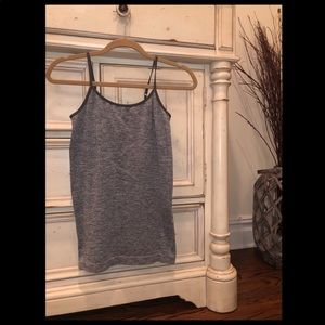 Grey polyester, spandext and nylon tank